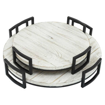 Picture of Wood Trays - Set of 2 - Gray