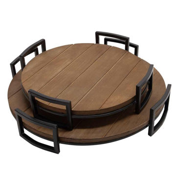 Picture of Wood Trays - Set of 2 - Brown