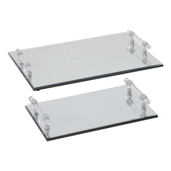 Picture of Mirrored Trays - Set of 2