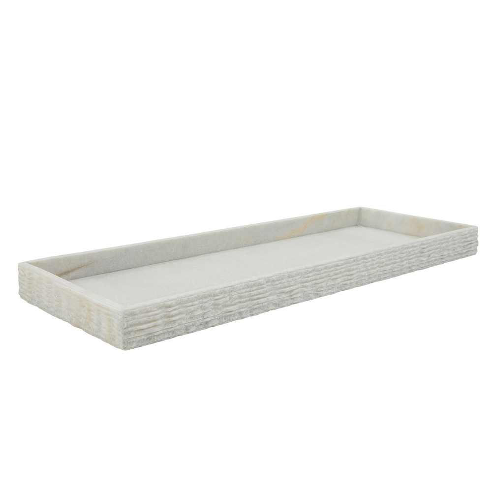 """Picture of Marble 24"""" x 9"""" Tray - White"""