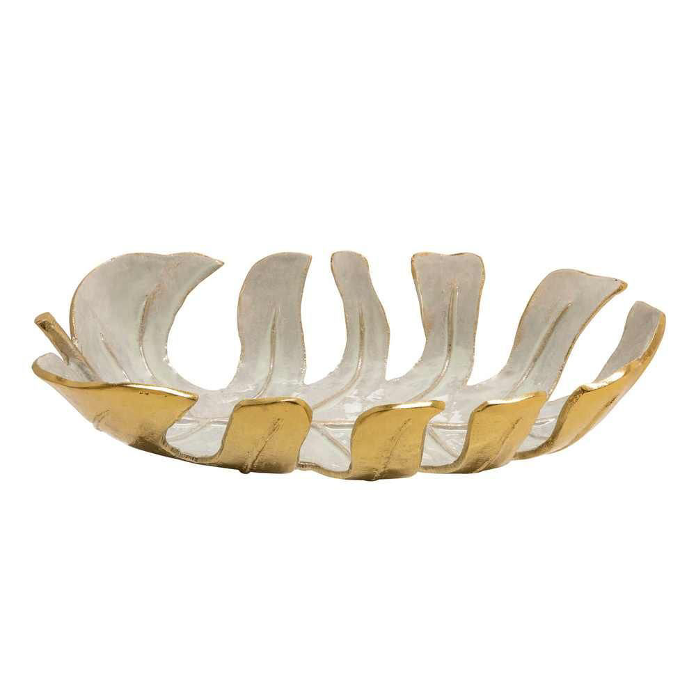 """Picture of Leaf 18"""" Bowl - Champagne"""