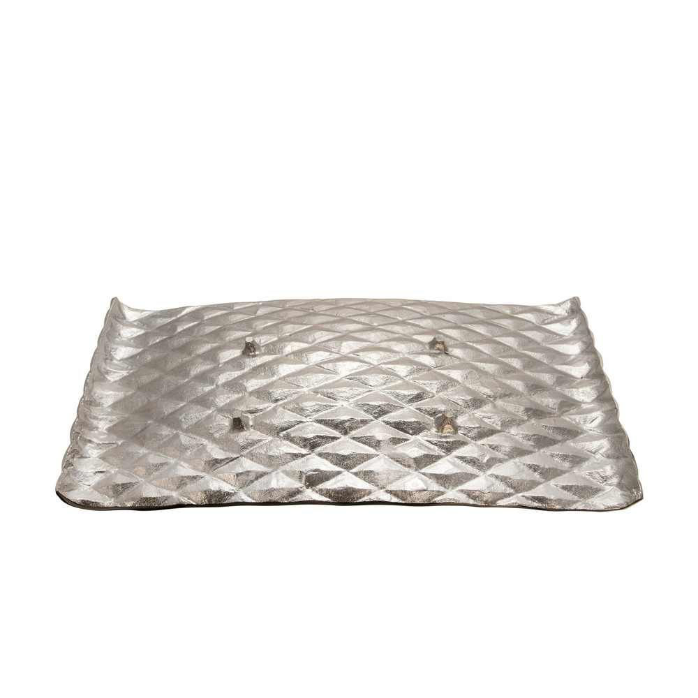 Picture of Decorative Hammered Metal Tray - Set of 2 - Gold and Silver