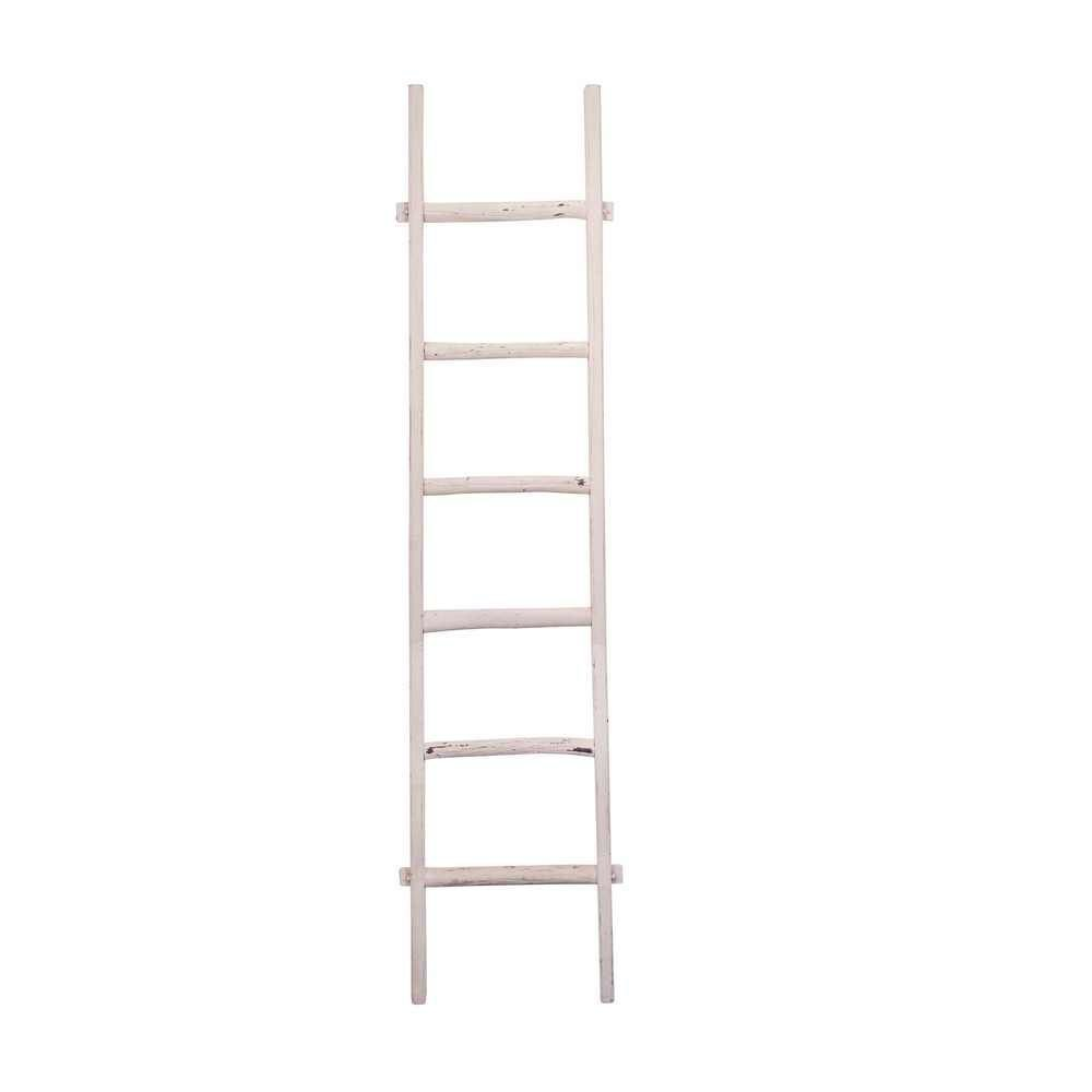 """Picture of Wooden 76"""" Decorative Ladder - White"""
