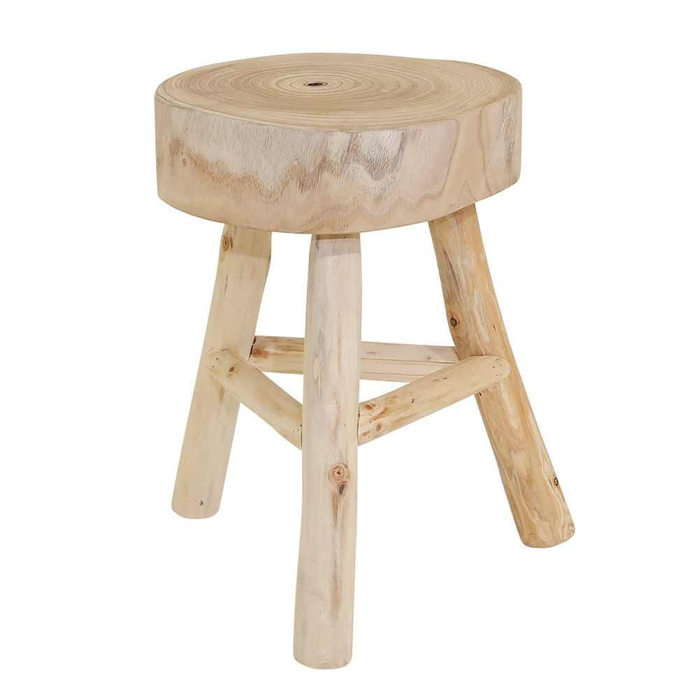 """Picture of Wooden 16"""" Stool - Natural"""