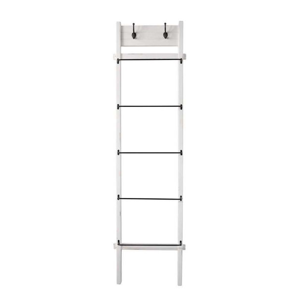 """Picture of Wood and Metal 76"""" Ladder - White"""