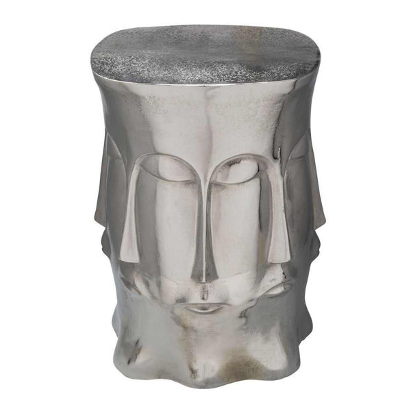 Picture of Metal Multi Faced Stool - Silver