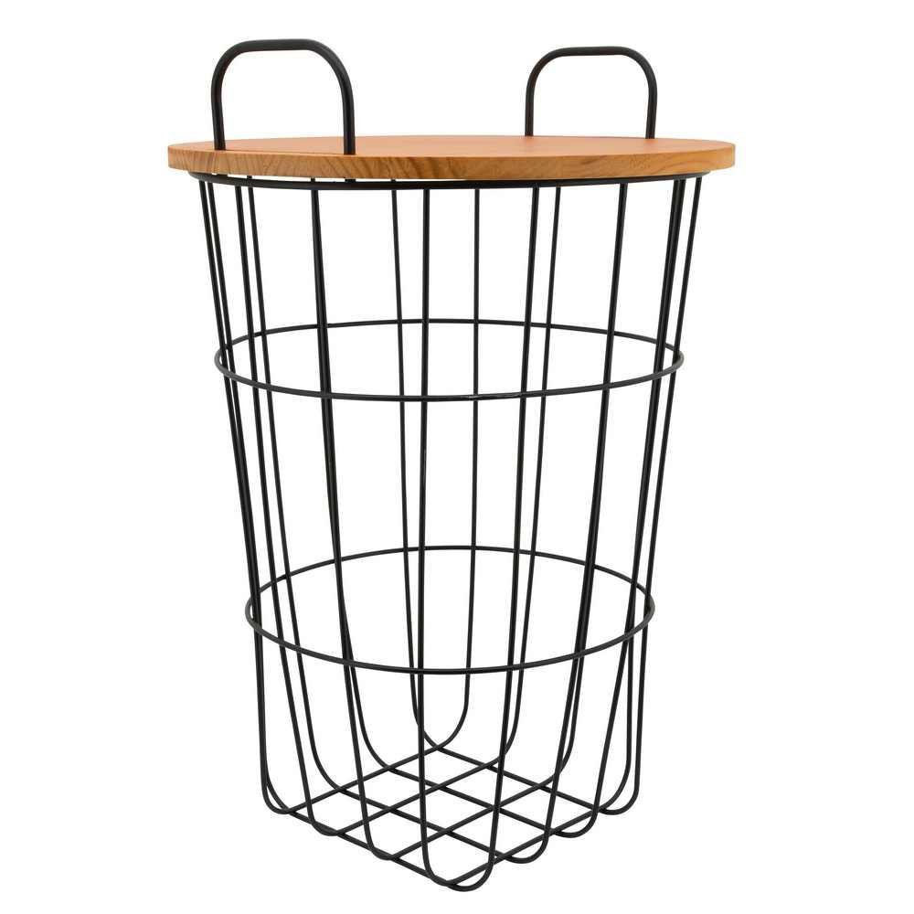 "Picture of Metal 22"" Storage Basket - Brown"