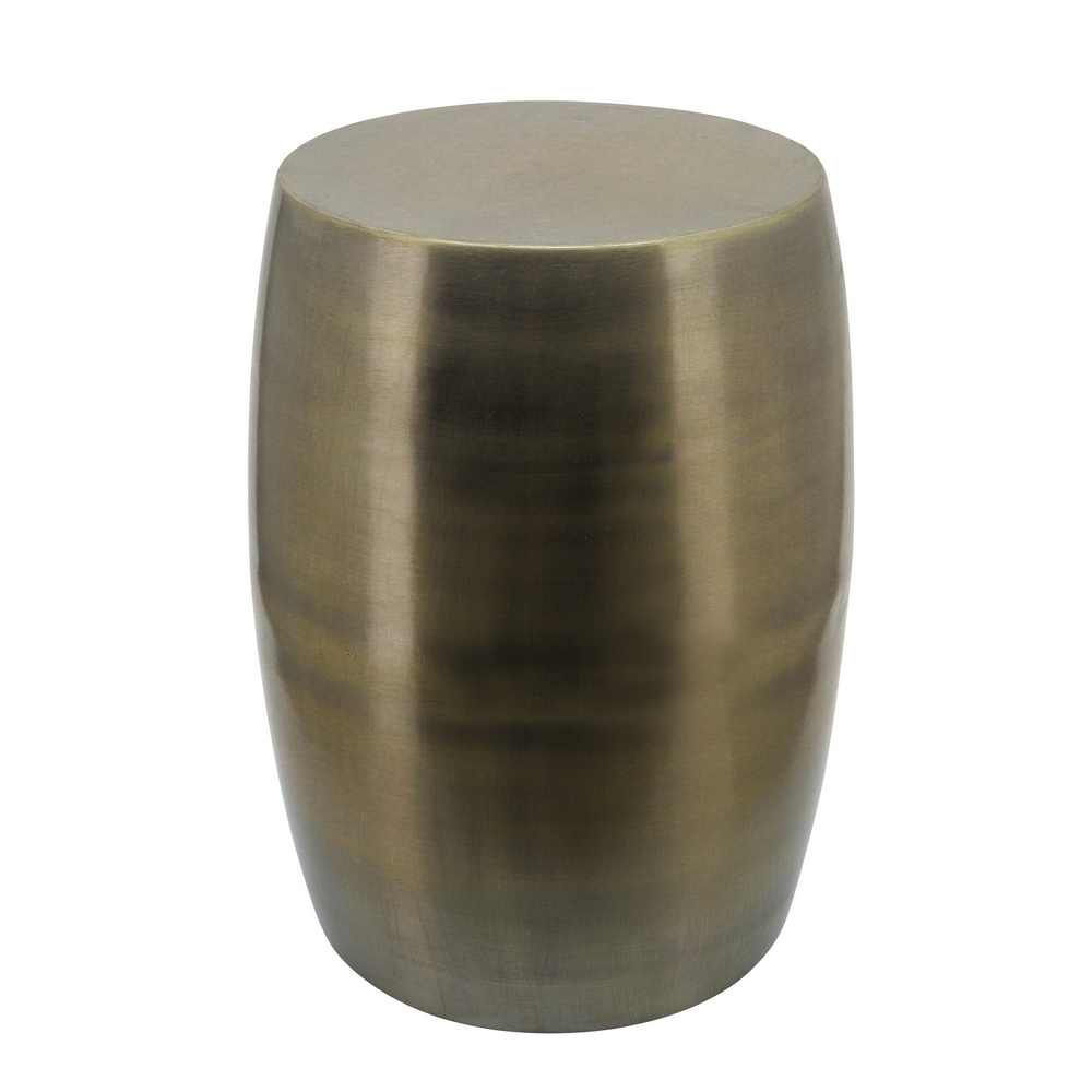 """Picture of Metal 18"""" Barrel Shaped Stool - Gold"""