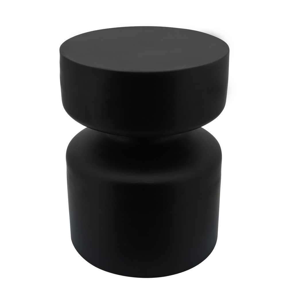 """Picture of Metal 18"""" Pawn Shaped Stool - Black"""