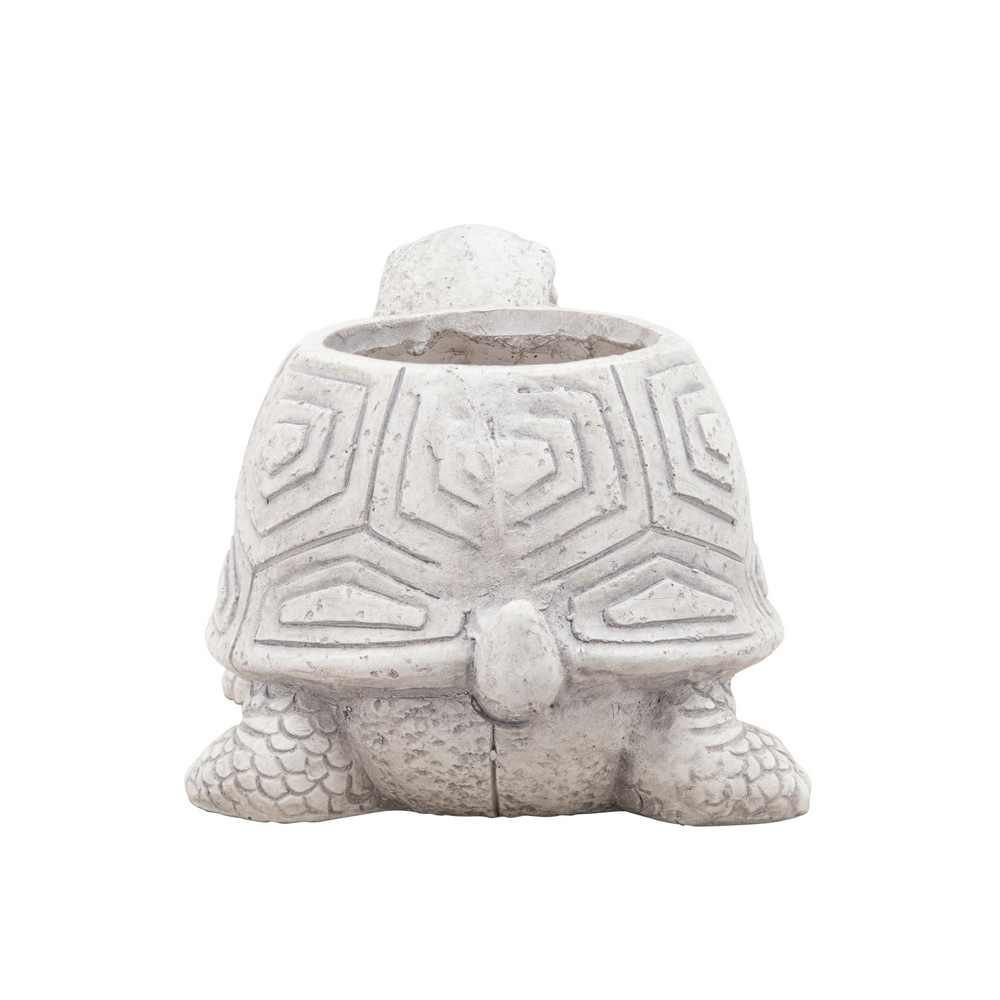 """Picture of Resin 14"""" Tortoise Planter - Gray"""