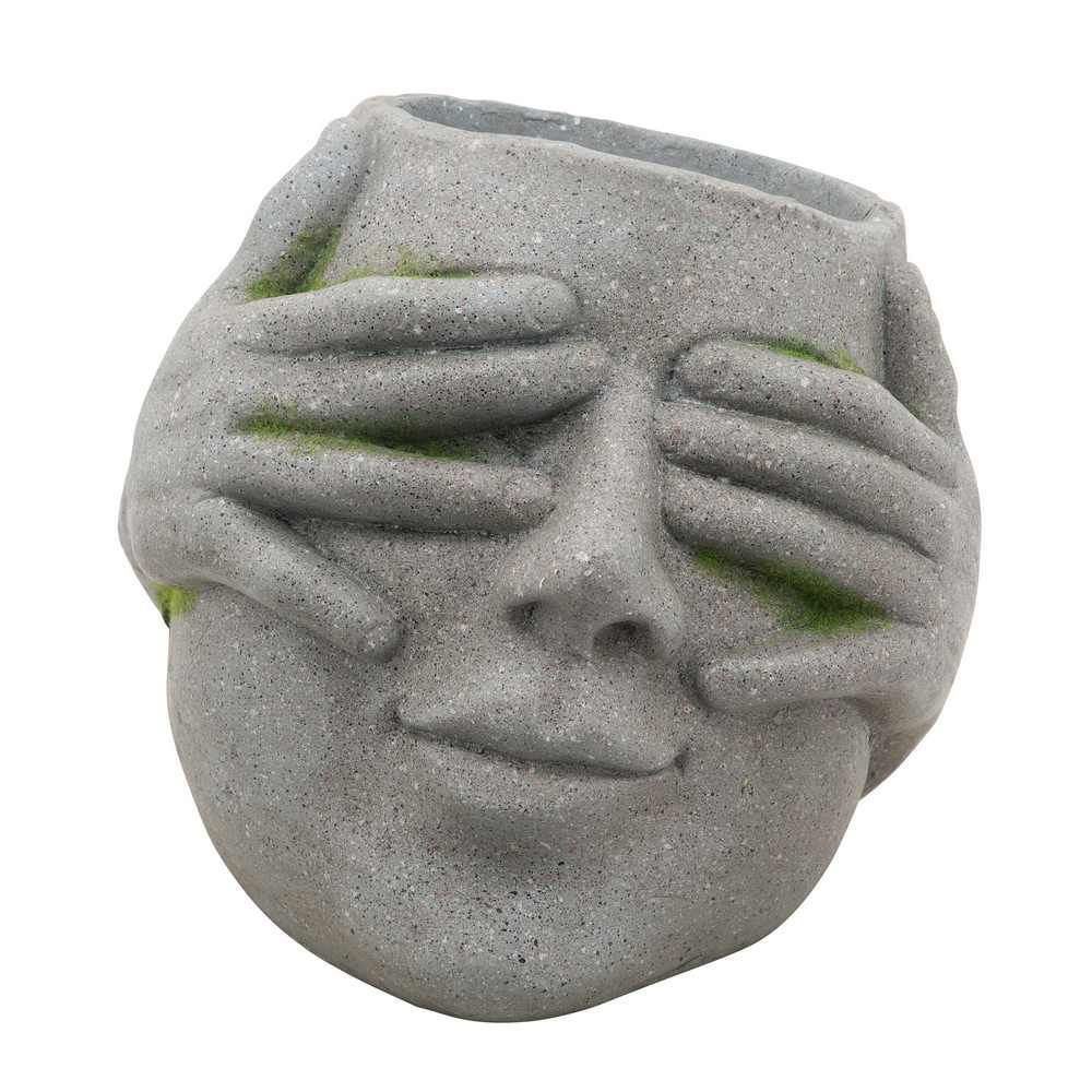 """Picture of Resin 9"""" No See Planter - Gray"""