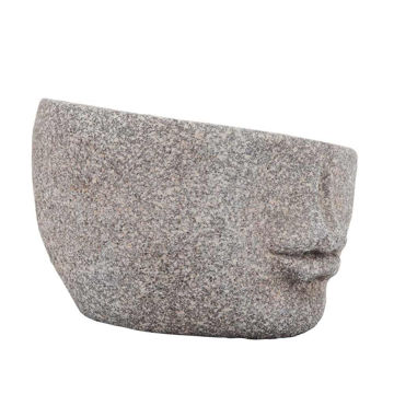 """Picture of Resin 8"""" Half Planter - Gray"""