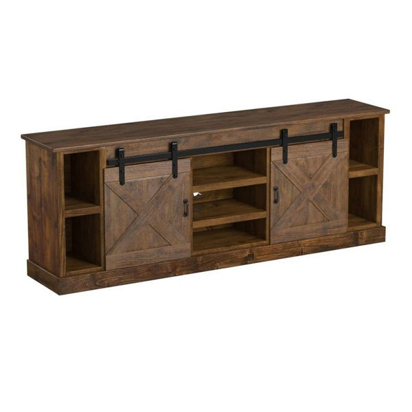 """Picture of Alder 85"""" Console - American Whiskey"""