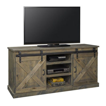 """Picture of Alder 66"""" Console - Barnwood Gray"""