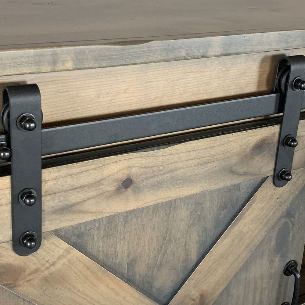 """Picture of Alder 85"""" Console - Barnwood Gray"""
